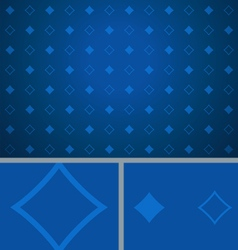Clean Abstract Poker Background Blue Diamonds vector image vector image