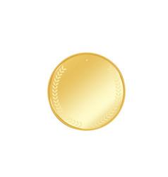 golden badge vector image