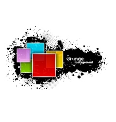 Grunge background with squares vector image vector image