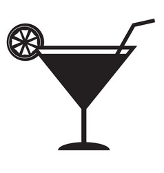 juice icon glass of juice icon black juice icon vector image