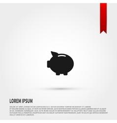 Piggy bank icon design vector image vector image