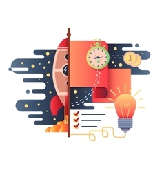 Startup business flat design vector image vector image