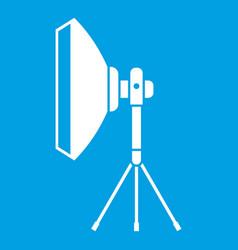 studio lighting equipment icon white vector image