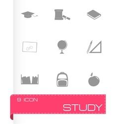 study icon set vector image vector image