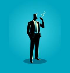 a businessman smoking vector image