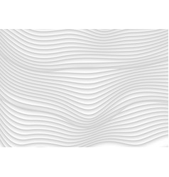 Abstract grey white 3d waves background vector