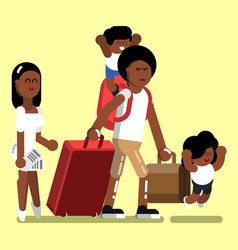 Afro american family vector