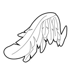 Angel wing icon outline style vector