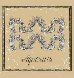 aquarius or water bearer zodiac sign vector image