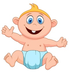 Baby boy cartoon vector