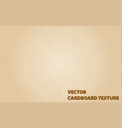 Background template with cardboard texture vector