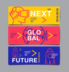 Banner design 2020 future business template vector