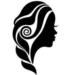 beautiful woman face in profile silhouette vector image