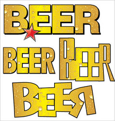beer text vector image