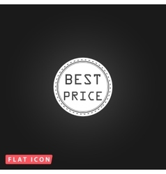 Best price icon vector