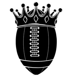 black silhouette ball with crown design american vector image