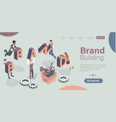 brand building company personality development vector image