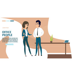 business people in office cartoon website vector image