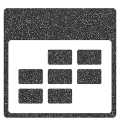 Calendar Month Grid Grainy Texture Icon vector