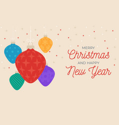 christmas and new year greeting card or banner vector image