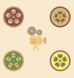 Collection in flat style tape vector