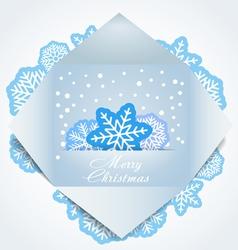 Color polygonal christmas greeting card vector