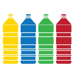 colored bottle set vector image