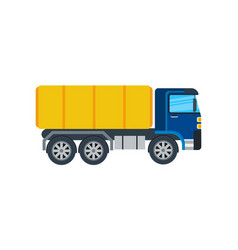 commercial truck isolated icon vector image