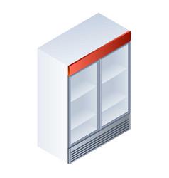 Drink fridge icon isometric style vector
