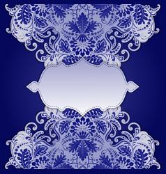 Elegant frame with ethnic ornament vector image