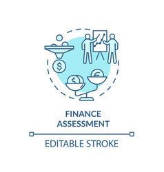Finance assessment concept icon vector