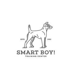 fox terrier logo vector image