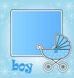 frame for baby stroller for the boy vector image