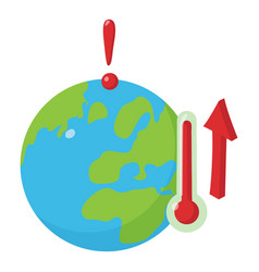 Global warming icon isometric style vector