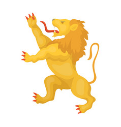 Golden lion symbol of belgiumthe dark belgian vector