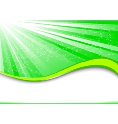 green ray vector image