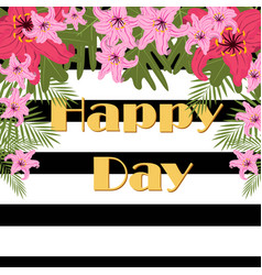 greeting card happy day vector image