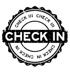 Grunge black check in word round rubber seal vector