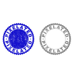 Grunge pixelated textured watermarks vector