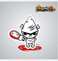 halloween evil bearvoodoo doll pop art comic vector image