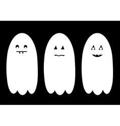 Halloween ghost set vector image