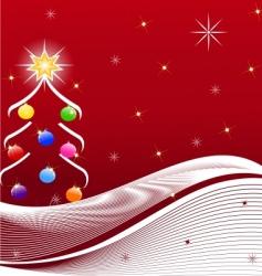 illustration of Christmas tree vector image