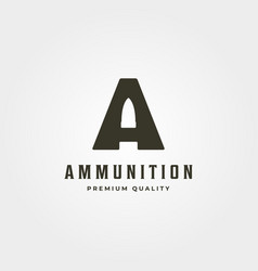 initial letter a bullet logo icon symbol minimal vector image