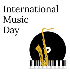 international music day 1 october cultural vector image