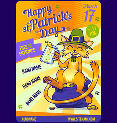 invitation card design saint patricks day party vector image