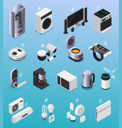 iot isometric icons vector image