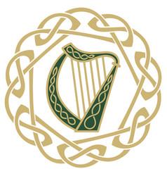 ireland harp musical instrument vector image