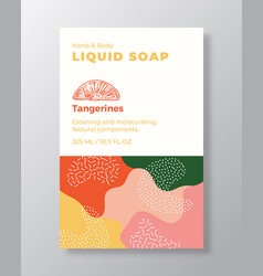 Liquid soap package label template abstract vector