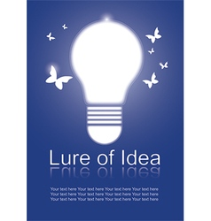 Lure of Idea vector