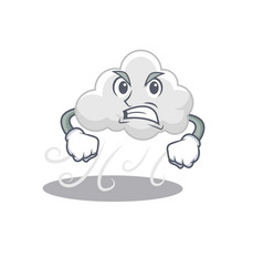 Mascot design concept cloudy windy with angry vector